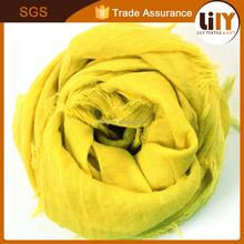 latest tassel 100% cotton printing crepe childen's scarf