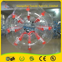 Colorful dot inflatable human bubble soccer,body zorbing ball,outdoor loopyball