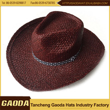 Buy High Quality Cowboy's Paper Straw Hat Wholesaler From Factory