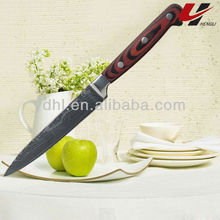 Comfortable damascus utility knife SD11A-504