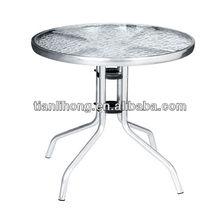 aluminum frame tempered glass bsitro table