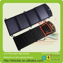 14w solar panel de tiras con el agujero del gancho para la mochila