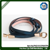 PU Woman Belt for Lady Female Fashion Dress Designer Belts Pin buckle China Factory Manufacturer Thin