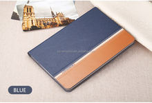 Multicolor Pu leather+ canvas book style folding stand cover for iPad table case for iPad 2 3 4