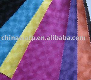 100% pu kaplı polyester çözgü süet örme kumaş bv sertifika ile