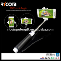 mini Selfie Stick Handheld Monopod Bluetooth Shutter button Remote Controller for mobile phone Extendable Selfie for wholesale