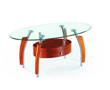 wood legs glass top coffee table