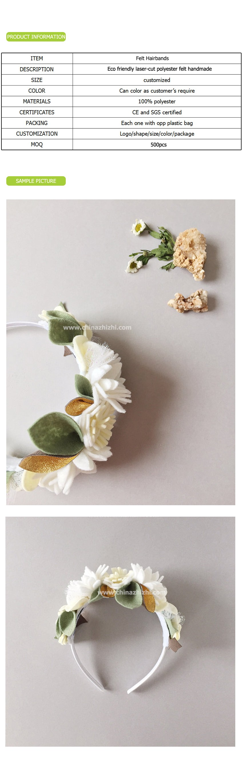 New Design Nice Quality Beautiful Cheap Baby Girl Flower Hairbands