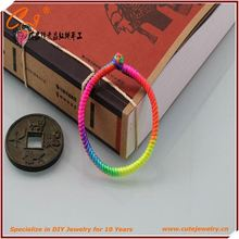 Braided Bracelet, fashion colourful double braided cotton cord