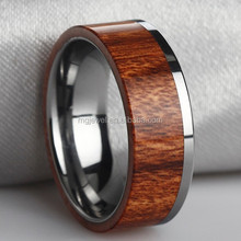 New arrival handmade combined natural wood inlay men ring
