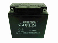 Green brand lead acid dry charged motorcycle battery 12v 7ah