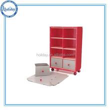 high quality cardboard cupboard with wheel, cardboard furniture cabinet with wheel