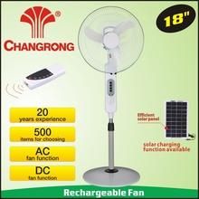 "Cr-8418r 18"" mando a distancia solar ventilador de pedestal"