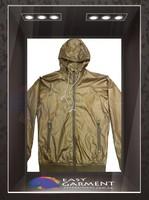 Custom Design Hot sales outdoor waterproof zip Plain bronze work Men golf windbreaker