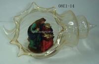 Wholesale diamond handblown glass ball ornaments for xmas decoration