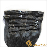new products 2016 unprocessed clip in remy italian oprah curl hair extensions