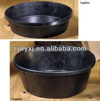 rubber feeding pan,rubber trough,3QT rubber tub,REACH