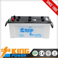 JIS 12V150AH dry charged auto battery