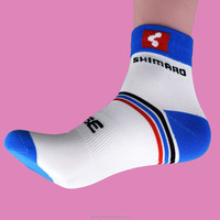 2015 Hot Selling New Arrival Latest Design Custom Hosiery Leg Warmers Outdoor Sport Compression White Ankle Cycling Socks Men