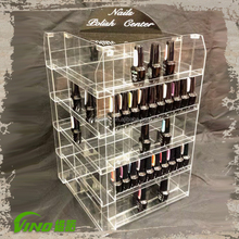 Clear Acrylic Essential Oil Display Rack Cosmetic Display Cabinet
