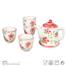 2012 Crockey red tea set/tea set ceramic