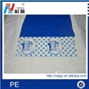 plastic clear film with logo print/color pe plastic film with adhesive