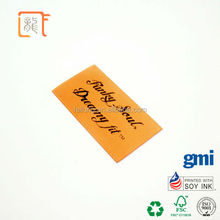 Black Handwritten Form Silk Screen Printed Clothing Label