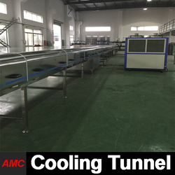 High-Performance Full Automatic industrial fruit dehydrator Cooling Tunnel For High-output Production Line