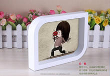 6'' wooden white photo picture frame,Chinese supplier photo frame display