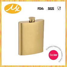 Factory wholesale stainless steel gold hip flask