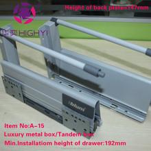 mini tandembox ball bearing drawer slides/silent damping drawer slide/soft closing