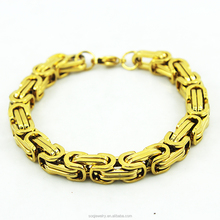 2015 fashion gold plated Stainless Steel bracelet china wholesale jewelry for men jewelry