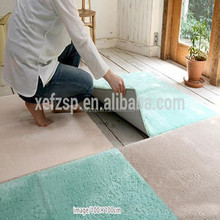 100% polyester shaggy pictures of carpet tiles for floor