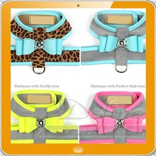 Stitching big bow dog harness dog body harness