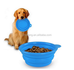 Large Capacity Collapsible Travel Pet Bowl