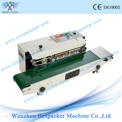 continuous heat impulse bag sealer with stainless steel body