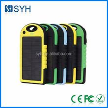 Portable mini solar power bank charger
