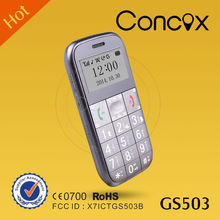 Mobile phone for old people GSM gps phone tracker with big keypad Concox GS503