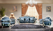 Danxueya- european style furniture palace/ blue living room sofa/ royal exclusive living room blue furniture