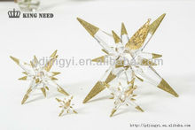 2015 DONGGUAN hot sales acrylic star shaped with christmas ornament