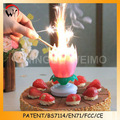 bithday rotación de apertura vela flor de proveedores