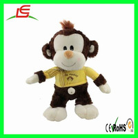 Soft Stuffed Monkey Toy Plush Monkey Toy With Clothes And Scarf