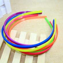 Candy color cheap ABS plastic headband with teeth children hairband kid hair accessory