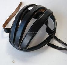 Real leather vintage bicycle helmet