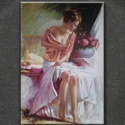 Modern stretched hand painted nude canvas oil painitngs