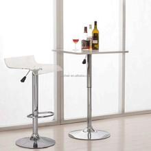 Goldern supplier acrylic bar high table and chair