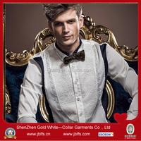 high quality wholesale fashion cheap splicing dress shirt for men