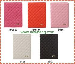 For ipad mini Stand Lattice Diamond Pattern Leather Flip Case For iPad Mini