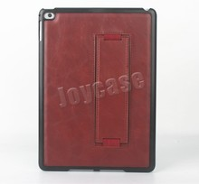 Plastic shell PU leather hybrid case for ipad air 2 hybrid case