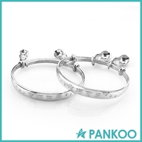 Sterling Silver Cute Child Bangle With Bells